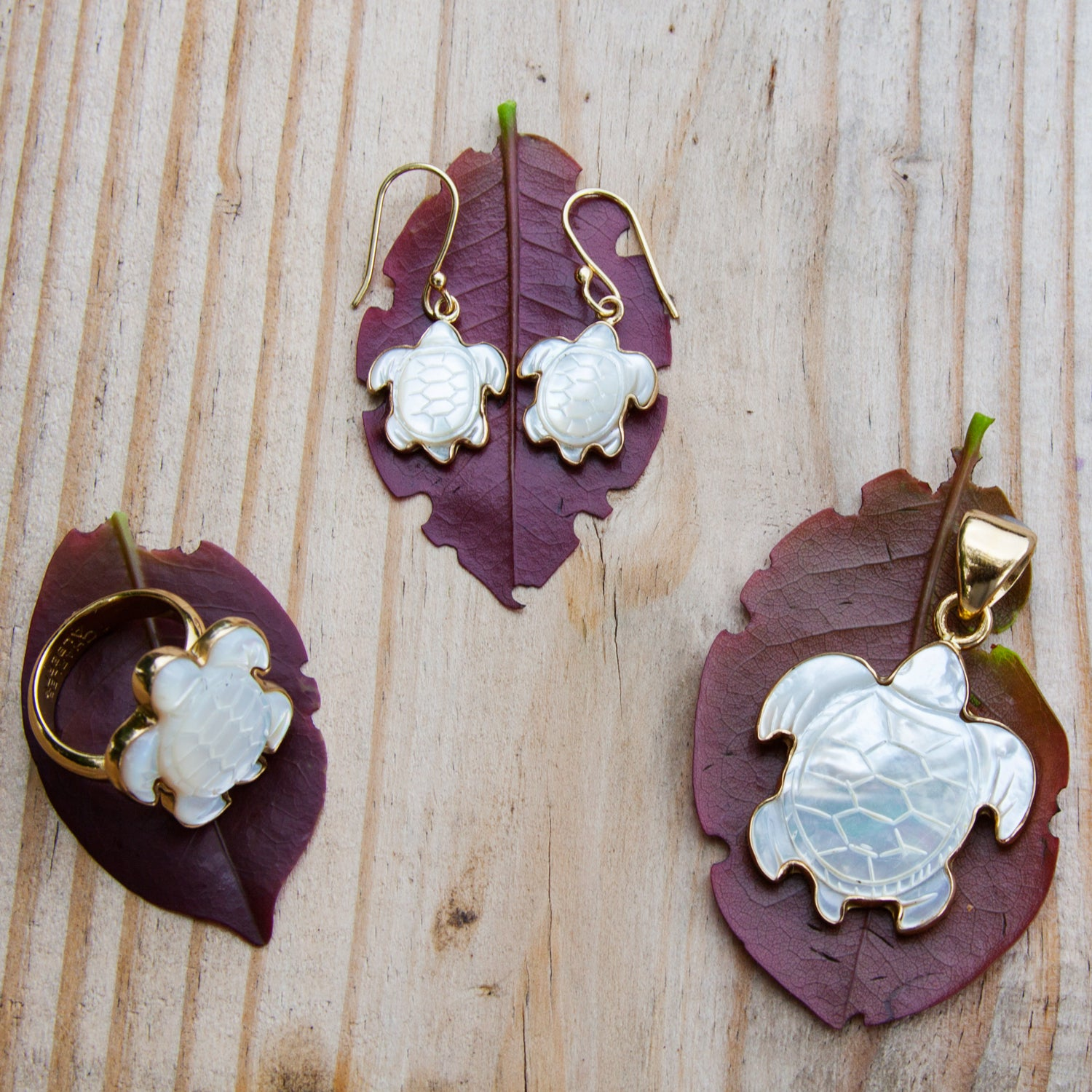Alchemia Mother of Pearl Sea Turtle Earrings | Charles Albert Jewelry
