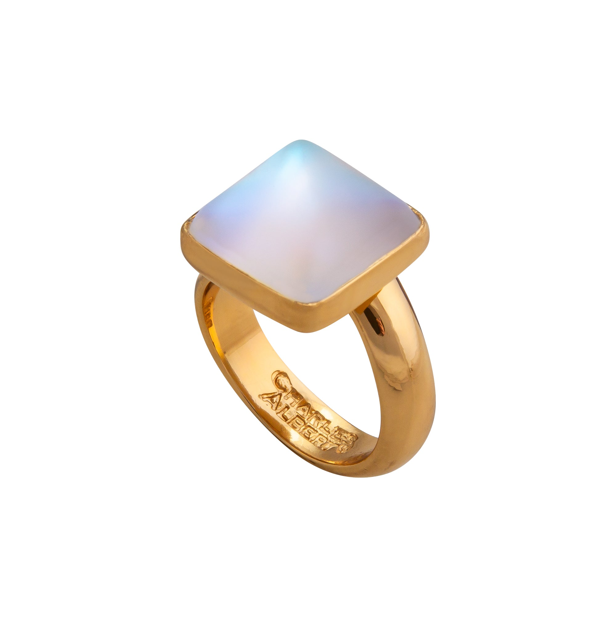 Alchemia Square Luminite Adjustable Ring
