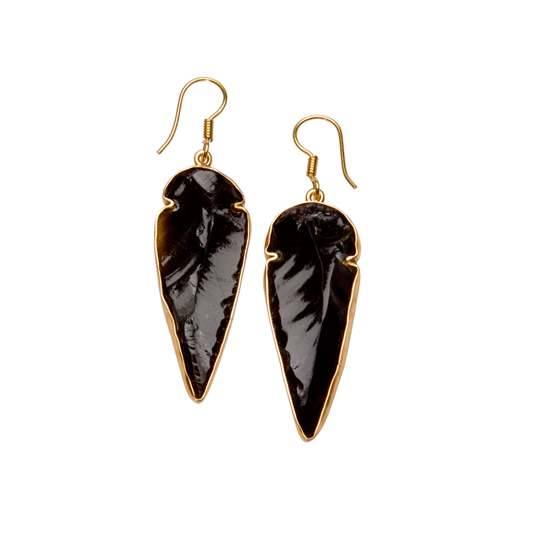 Alchemia Obsidian Arrowhead Drop Earrings | Charles Albert Jewelry