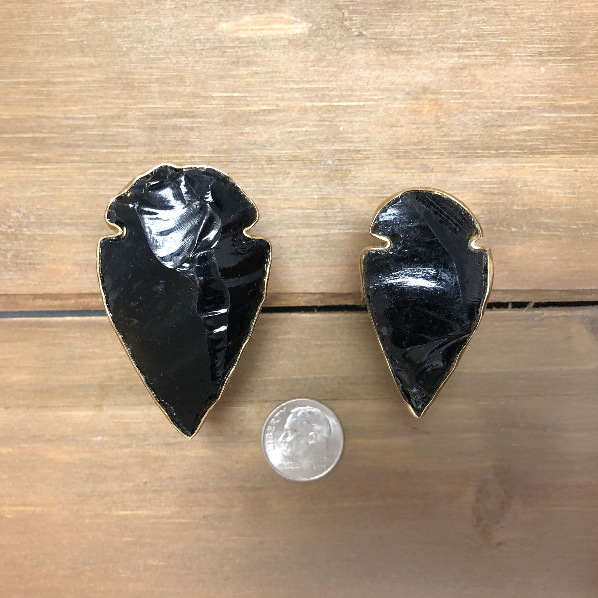 Alchemia Obsidian Arrowhead Adjustable Ring | Charles Albert Jewelry