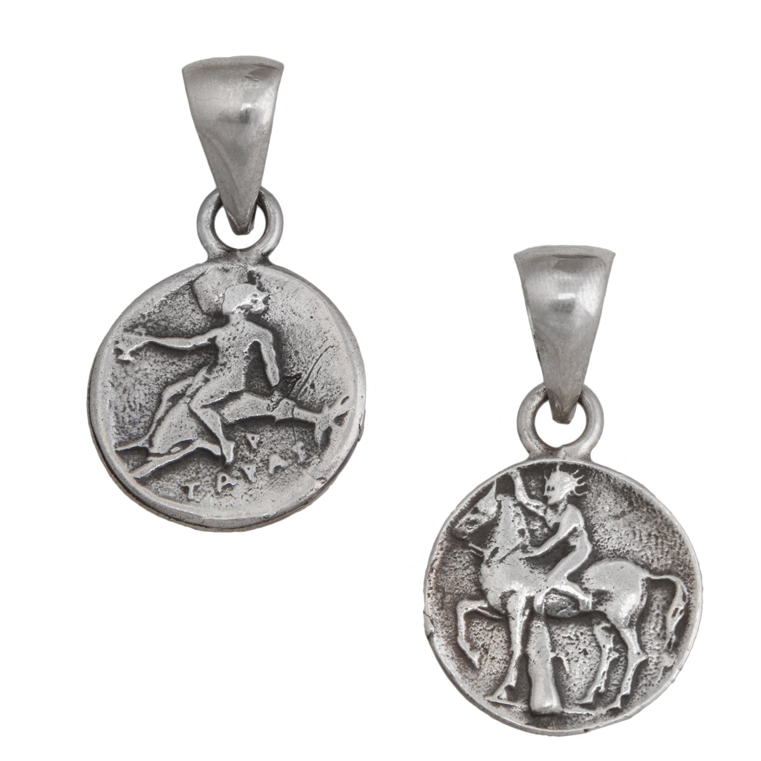 Sterling Silver Boy on Dolphin Pendant
