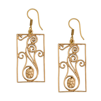 alchemia-rectangle-swirl-drop-earrings - 1 - Charles Albert Inc
