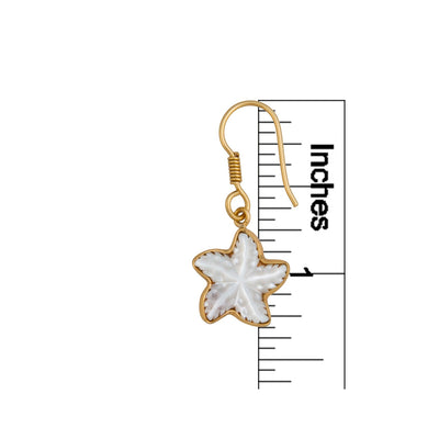 alchemia-mother-of-pearl-starfish-drop-earrings - 2 - Charles Albert Inc