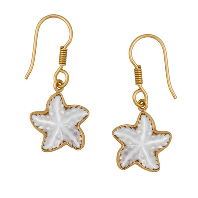 alchemia-mother-of-pearl-starfish-drop-earrings - 1 - Charles Albert Inc