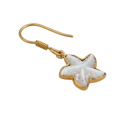alchemia-mother-of-pearl-starfish-drop-earrings - 3 - Charles Albert Inc