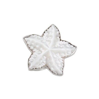 Sterling Silver Mother of Pearl Starfish Ring