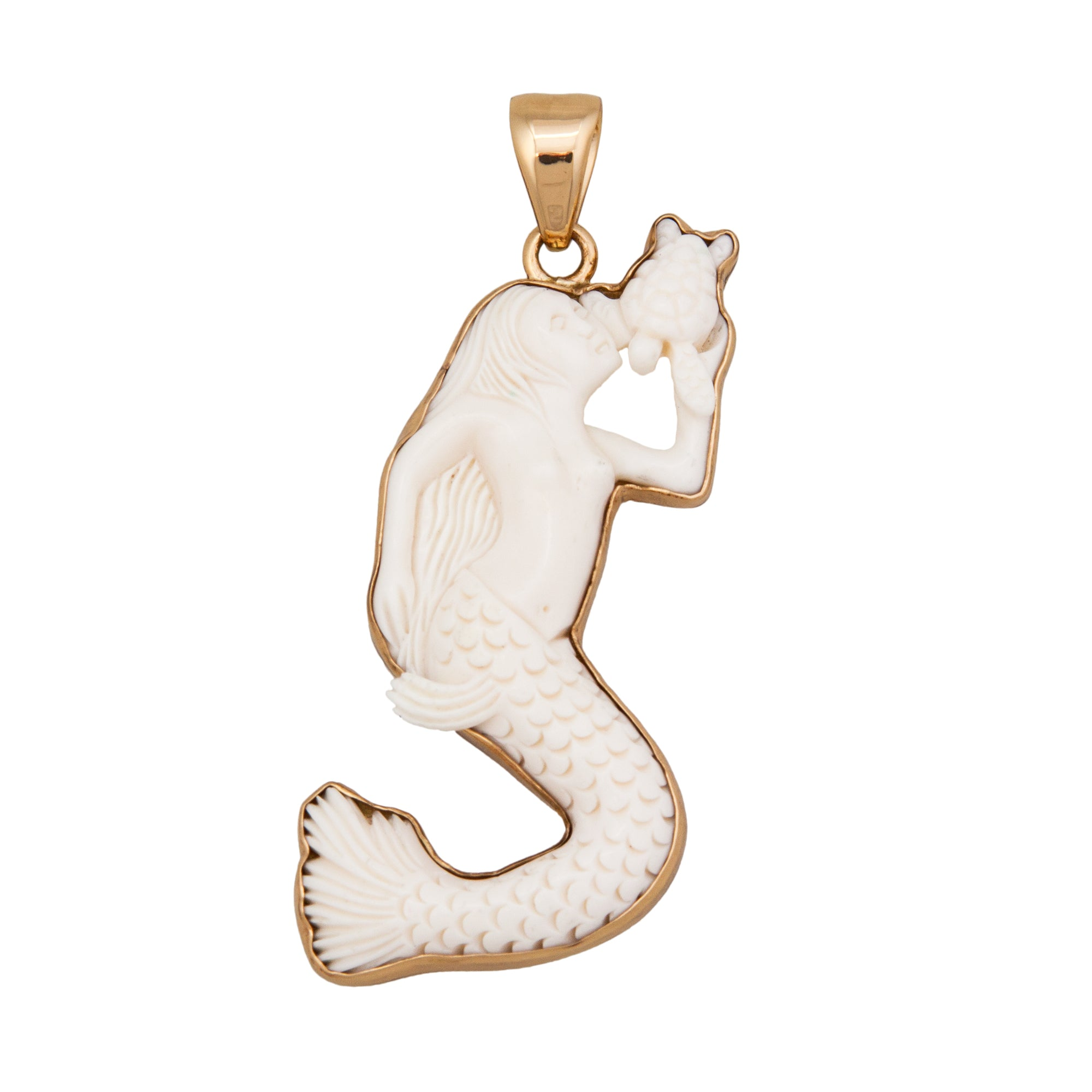Alchemia Bone Mermaid Pendant | Charles Albert Jewelry