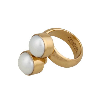 Alchemia Pearl Bypass Adjustable Ring
