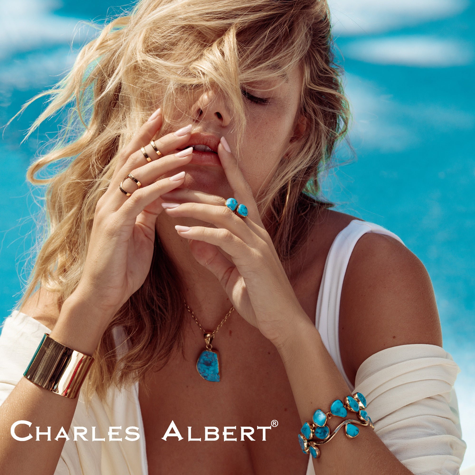 Alchemia Sleeping Beauty Turquoise Bracelet | Charles Albert Jewelry