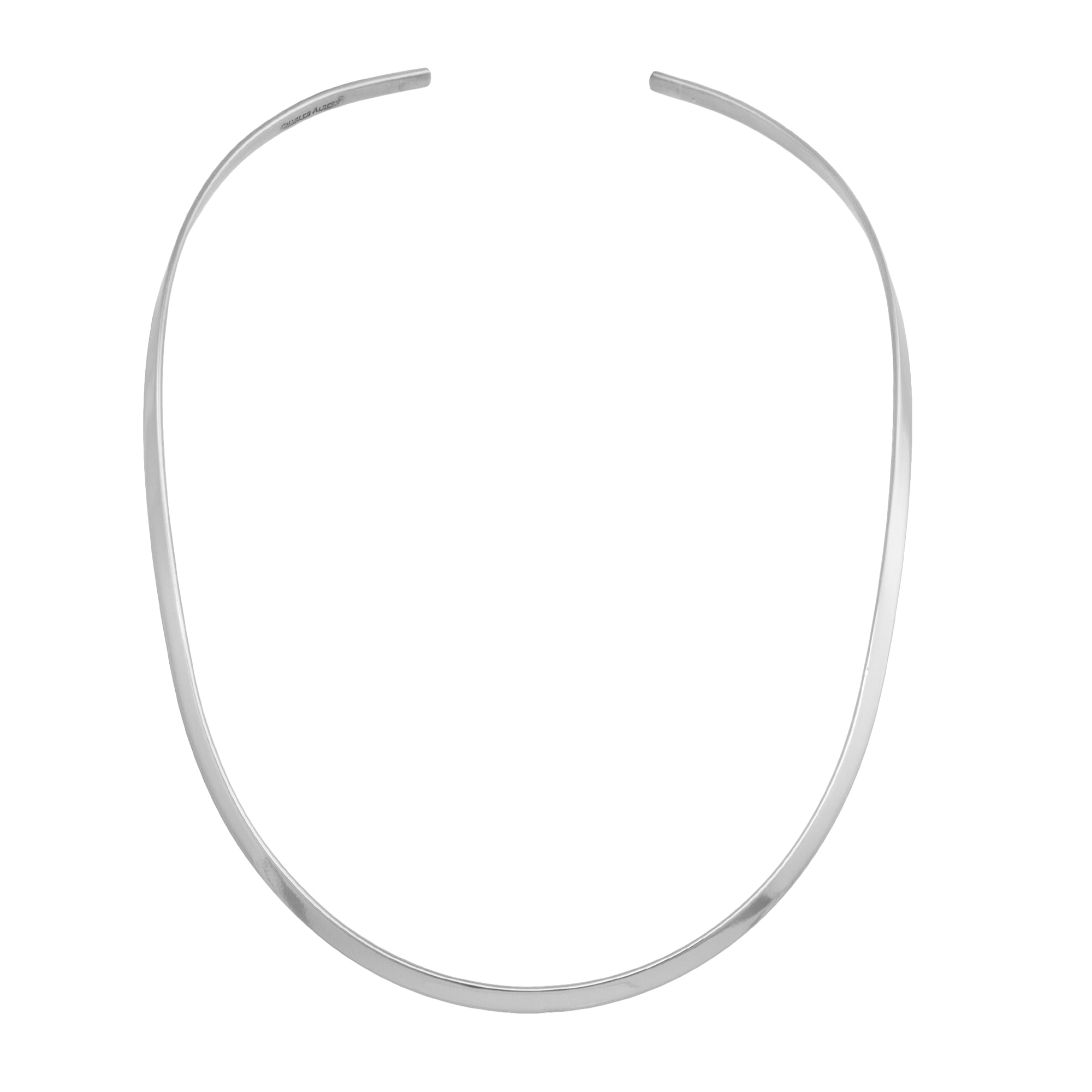 Silver Plated Open Oval Neckwire | Charles Albert Jewelry