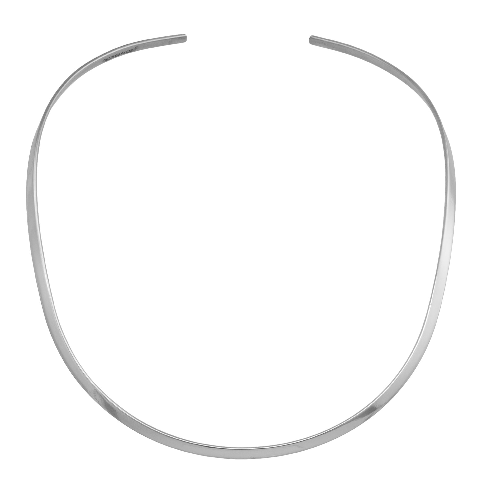 Silver Plated Open Round Neckwire