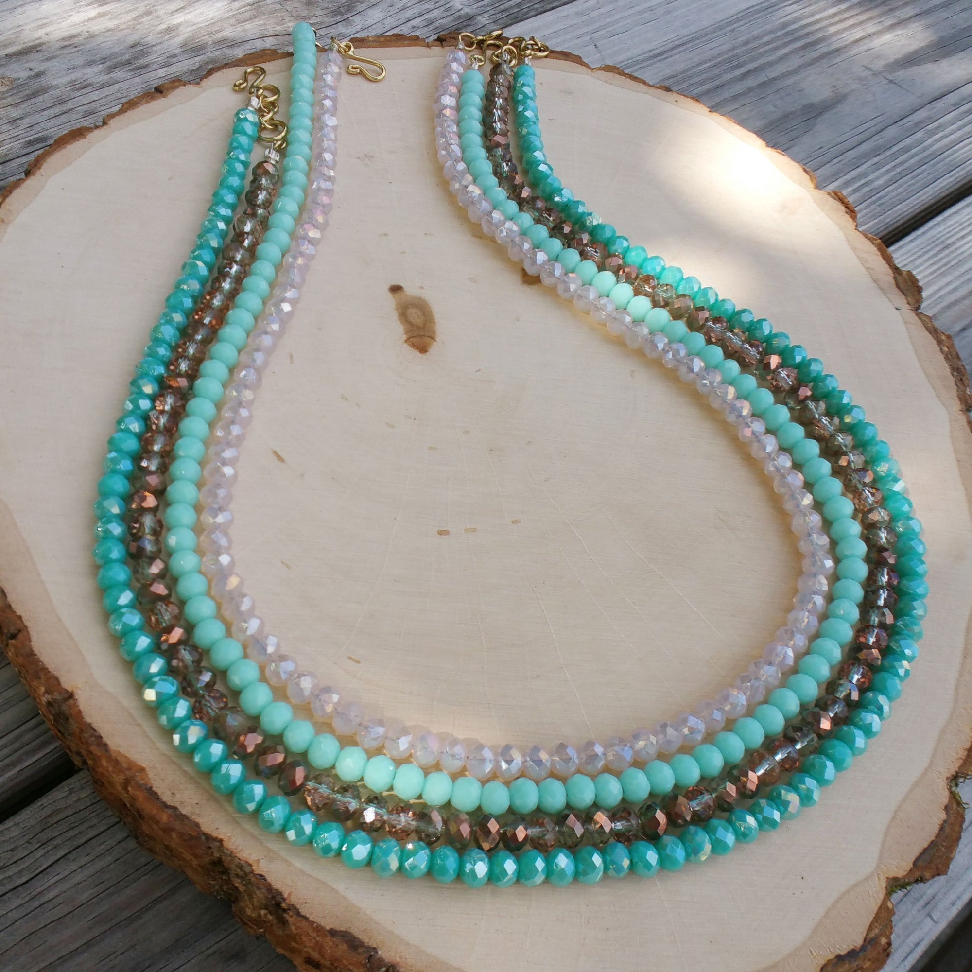 Charles Albert Crystal Beaded Necklaces