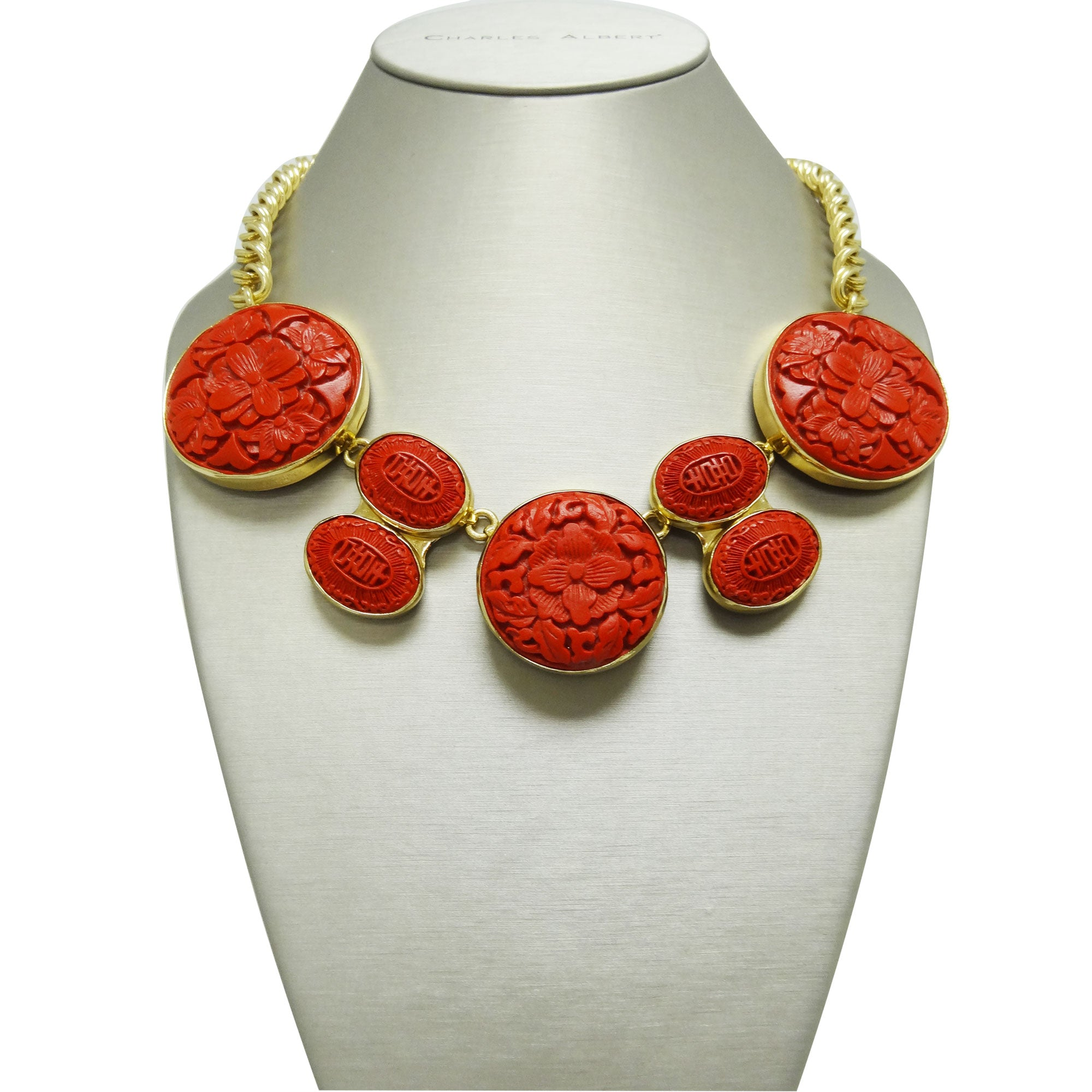 Alchemia Red Cinnabar Necklace | Charles Albert Jewelry