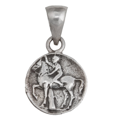 sterling-silver-boy-on-dolphin-pendant - 2 - Charles Albert Inc