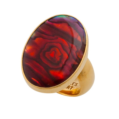 alchemia-red-abalone-adjustable-ring - 2 - Charles Albert Inc