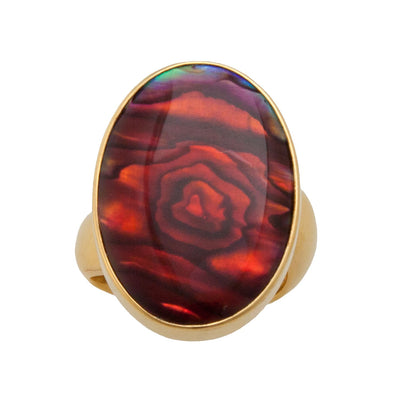 alchemia-red-abalone-adjustable-ring - 1 - Charles Albert Inc