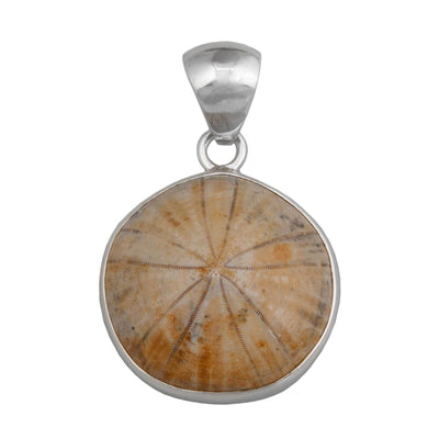 sterling-silver-fossil-sand-dollar-pendant - 3 - Charles Albert Inc