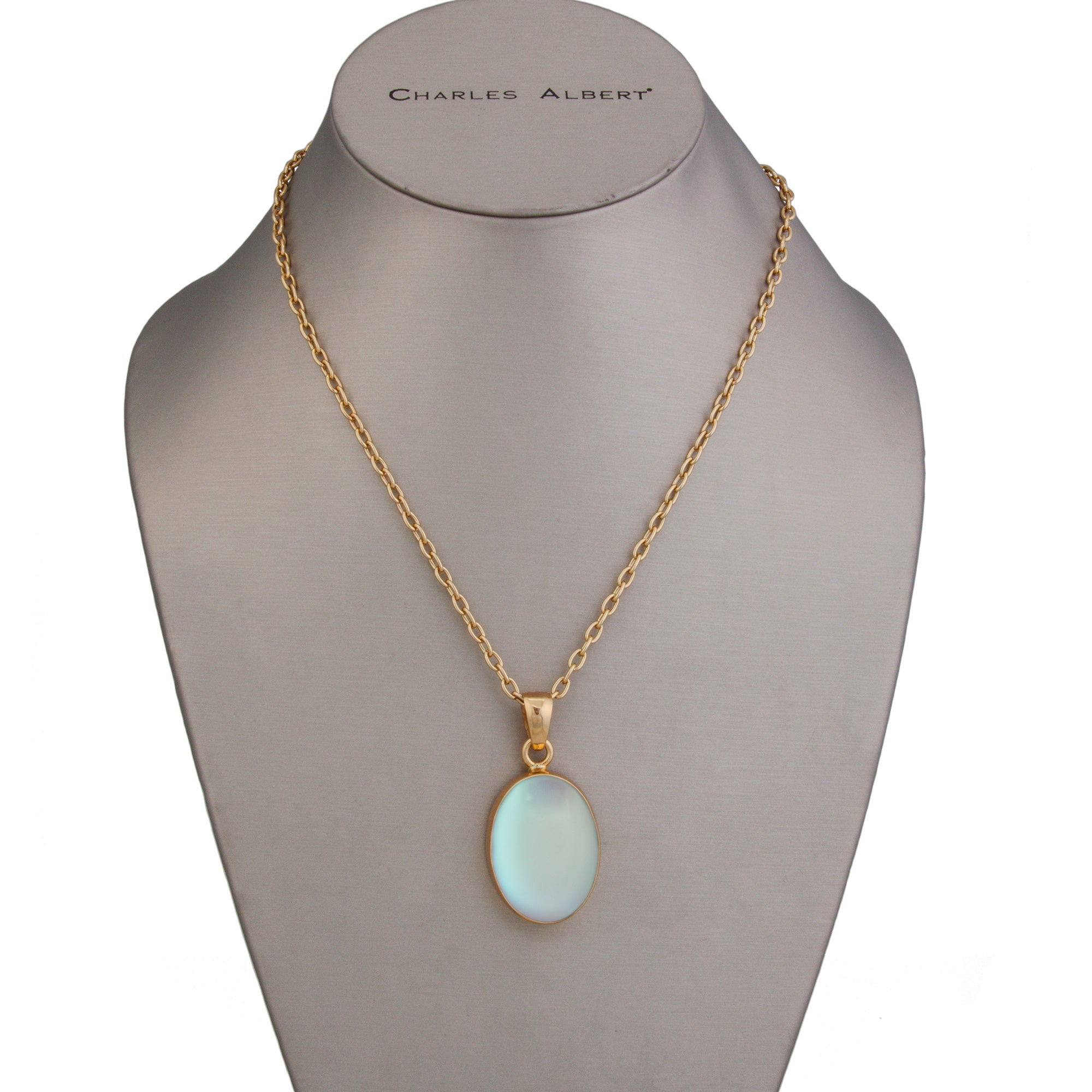 Alchemia Oval Luminite Pendant | Charles Albert Jewelry