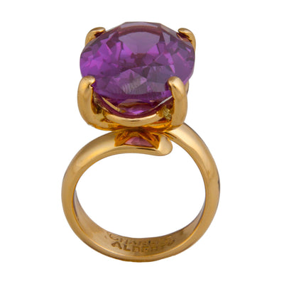 alchemia-amethyst-prong-set-adjustable-ring - 3 - Charles Albert Inc