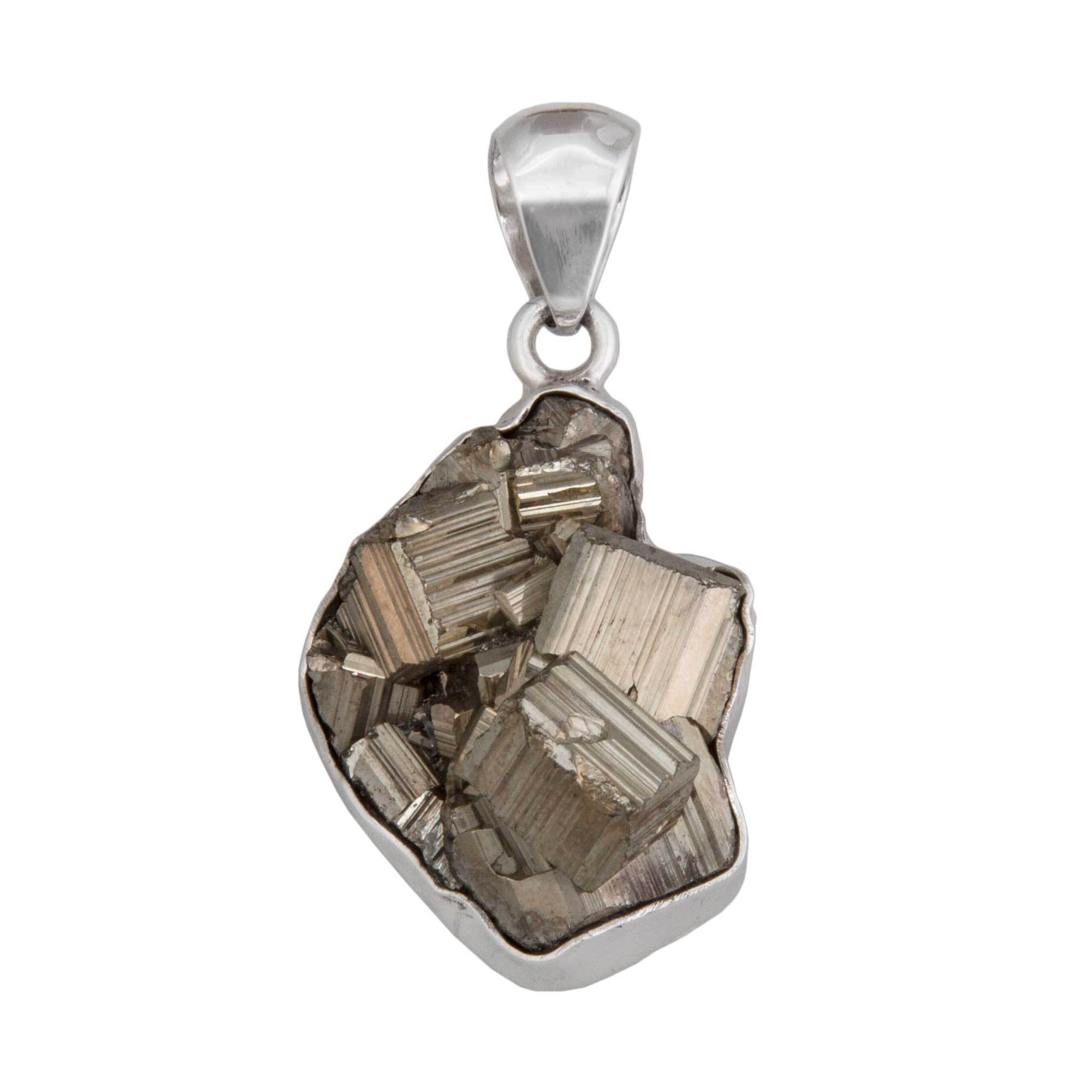 Sterling Silver Pyrite Pendant | Charles Albert Jewelry