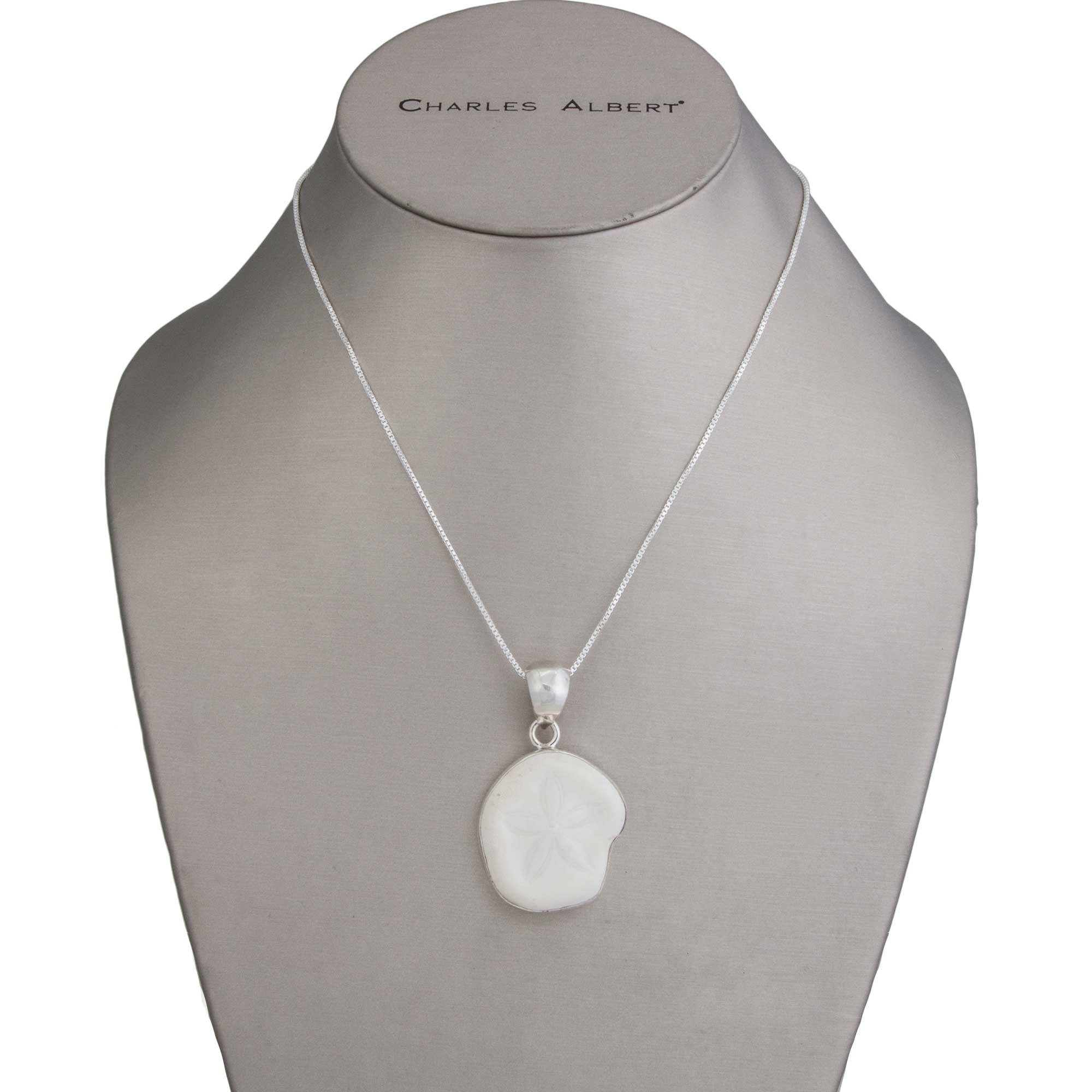 Sterling Silver Sand Dollar Shell Pendant | Charles Albert Jewelry