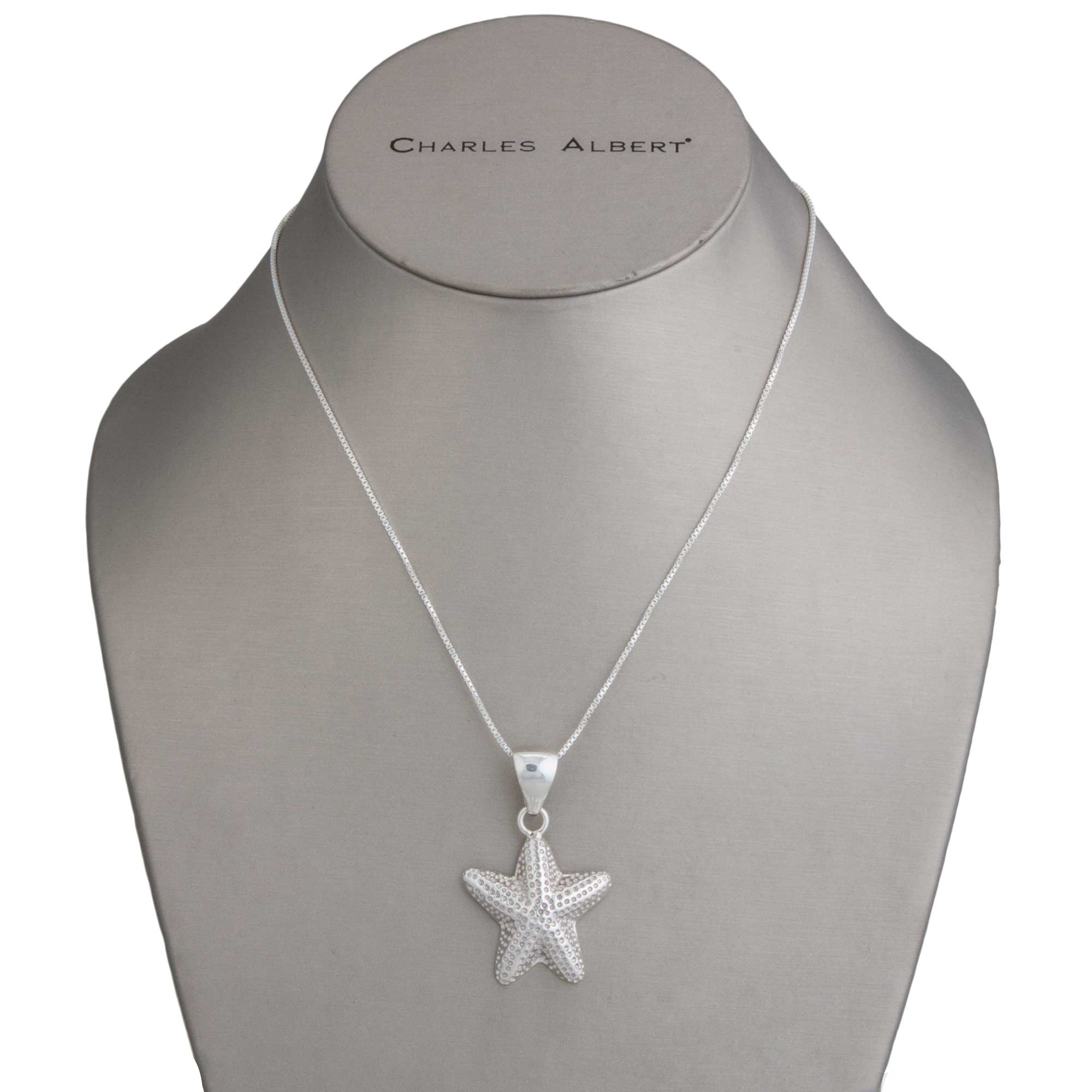 Sterling Silver Starfish Pendant | Charles Albert Jewelry