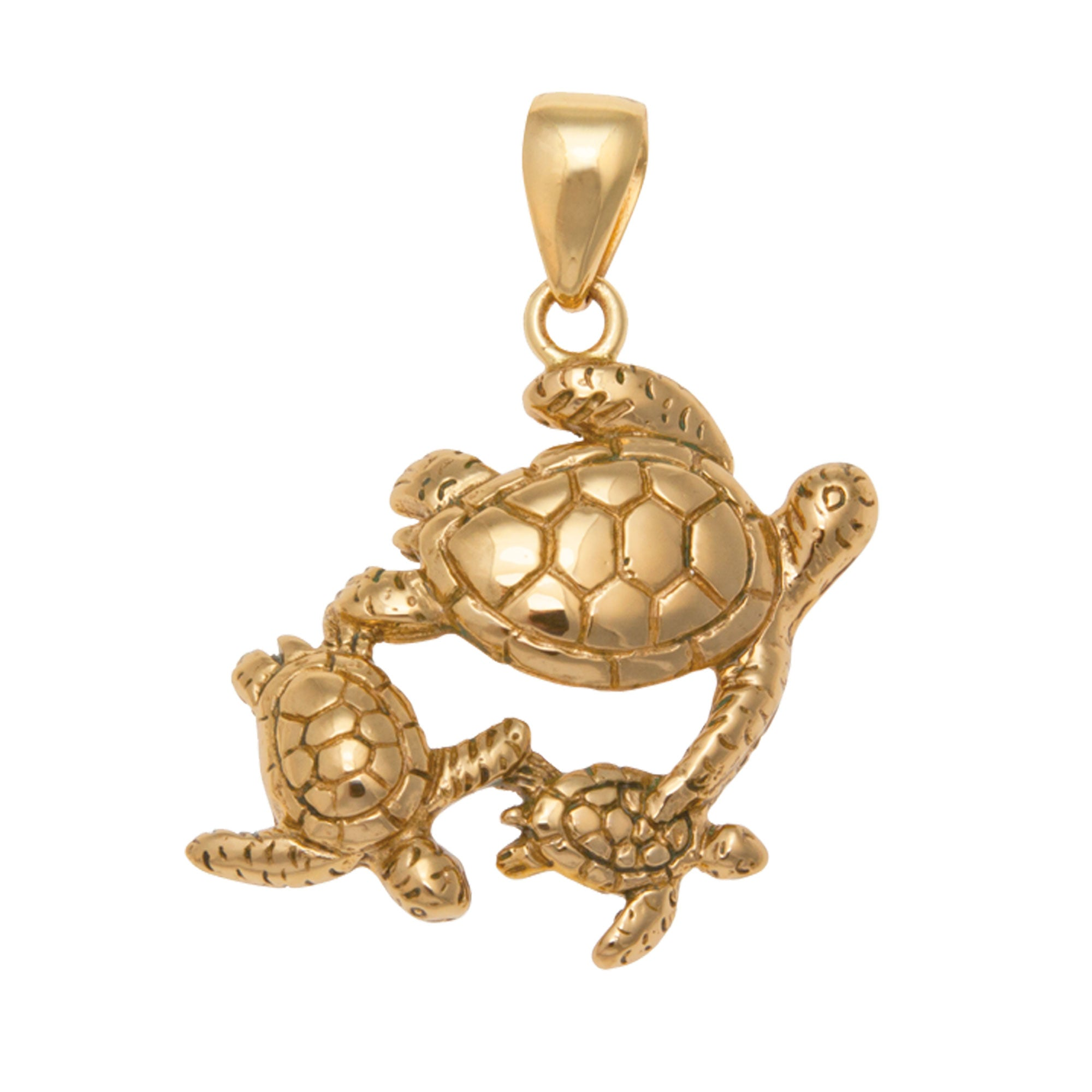 Alchemia Sea Turtle Family Pendant | Charles Albert Jewelry