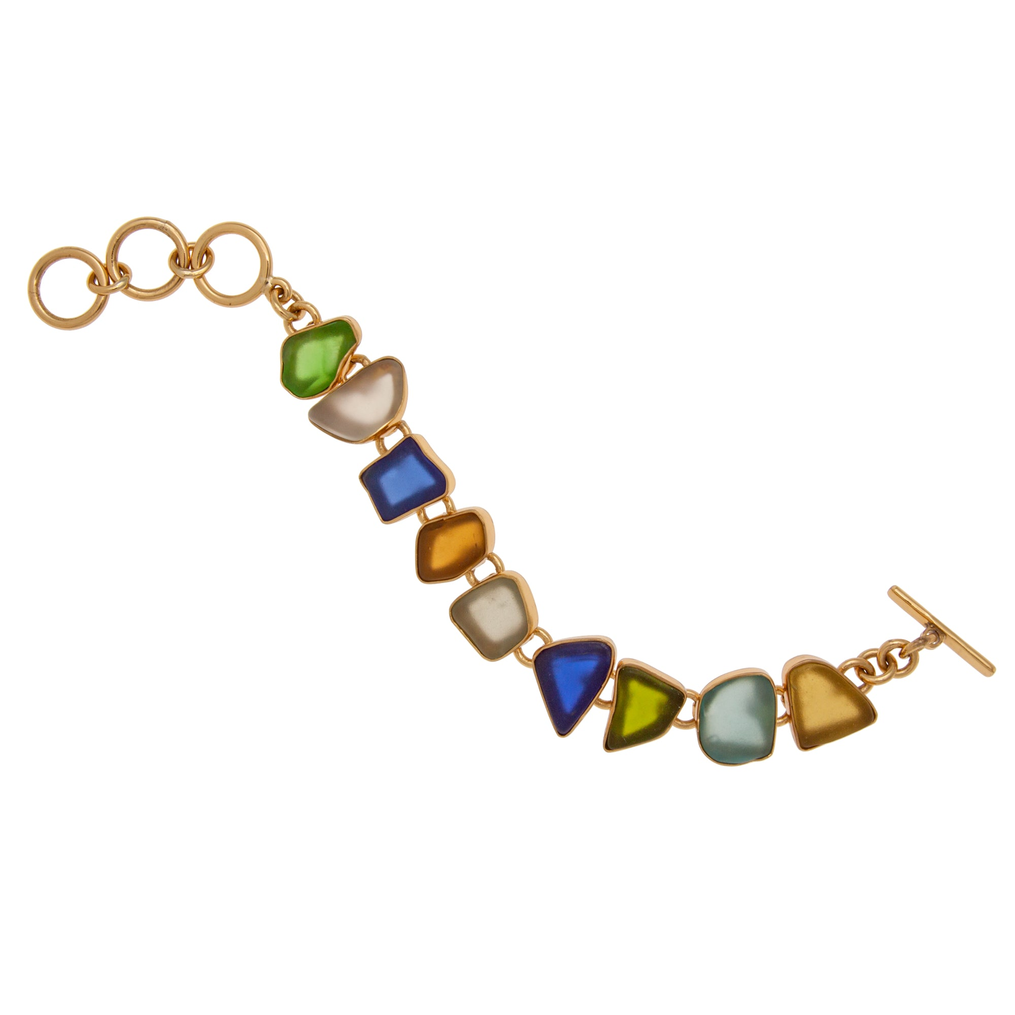 Alchemia Multi Color Recycled Glass Bracelet | Charles Albert Jewelry