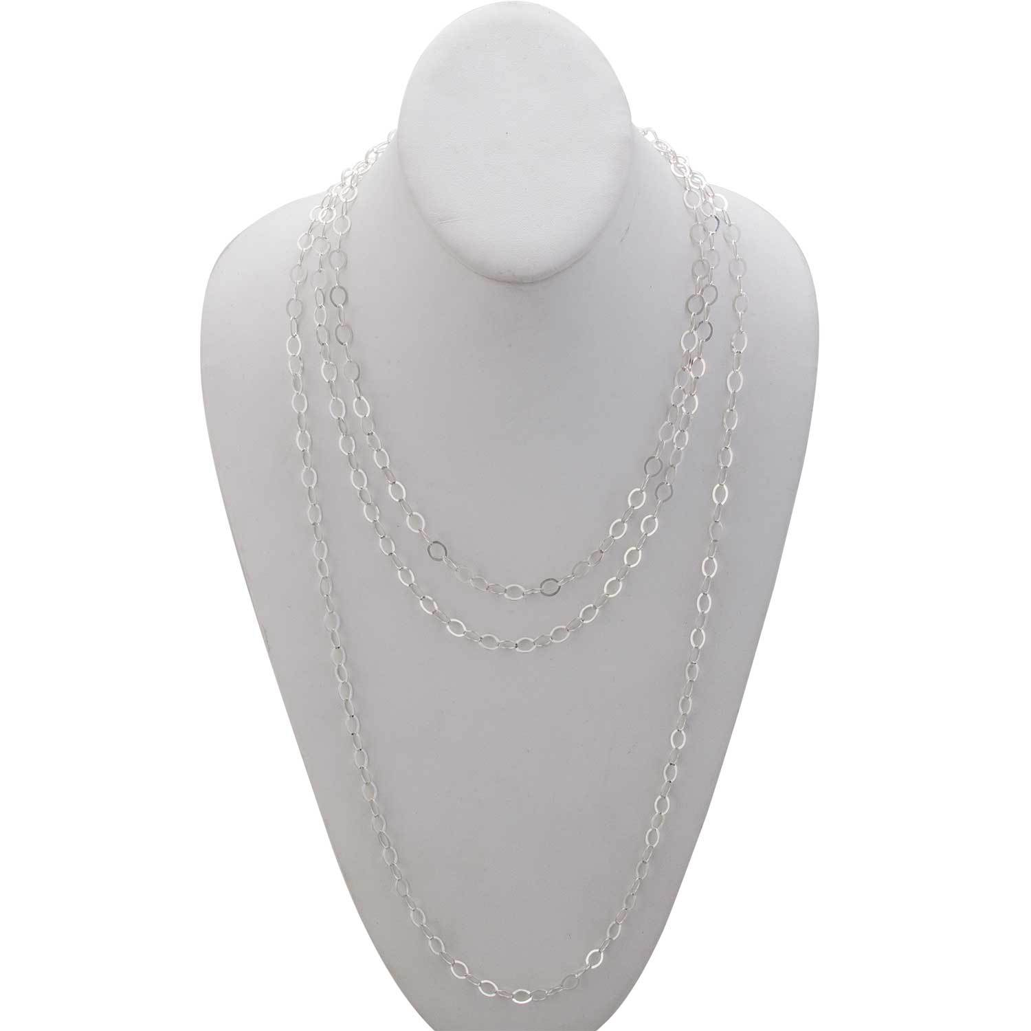 Sterling Silver Flat Oval Link Chain | Charles Albert Jewelry