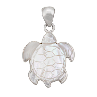 sterling-silver-mother-of-pearl-sea-turtle-pendant - 4 - Charles Albert Inc