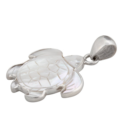 sterling-silver-mother-of-pearl-sea-turtle-pendant - 6 - Charles Albert Inc