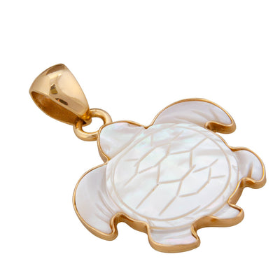 alchemia-mother-of-pearl-sea-turtle-pendant - 6 - Charles Albert Inc