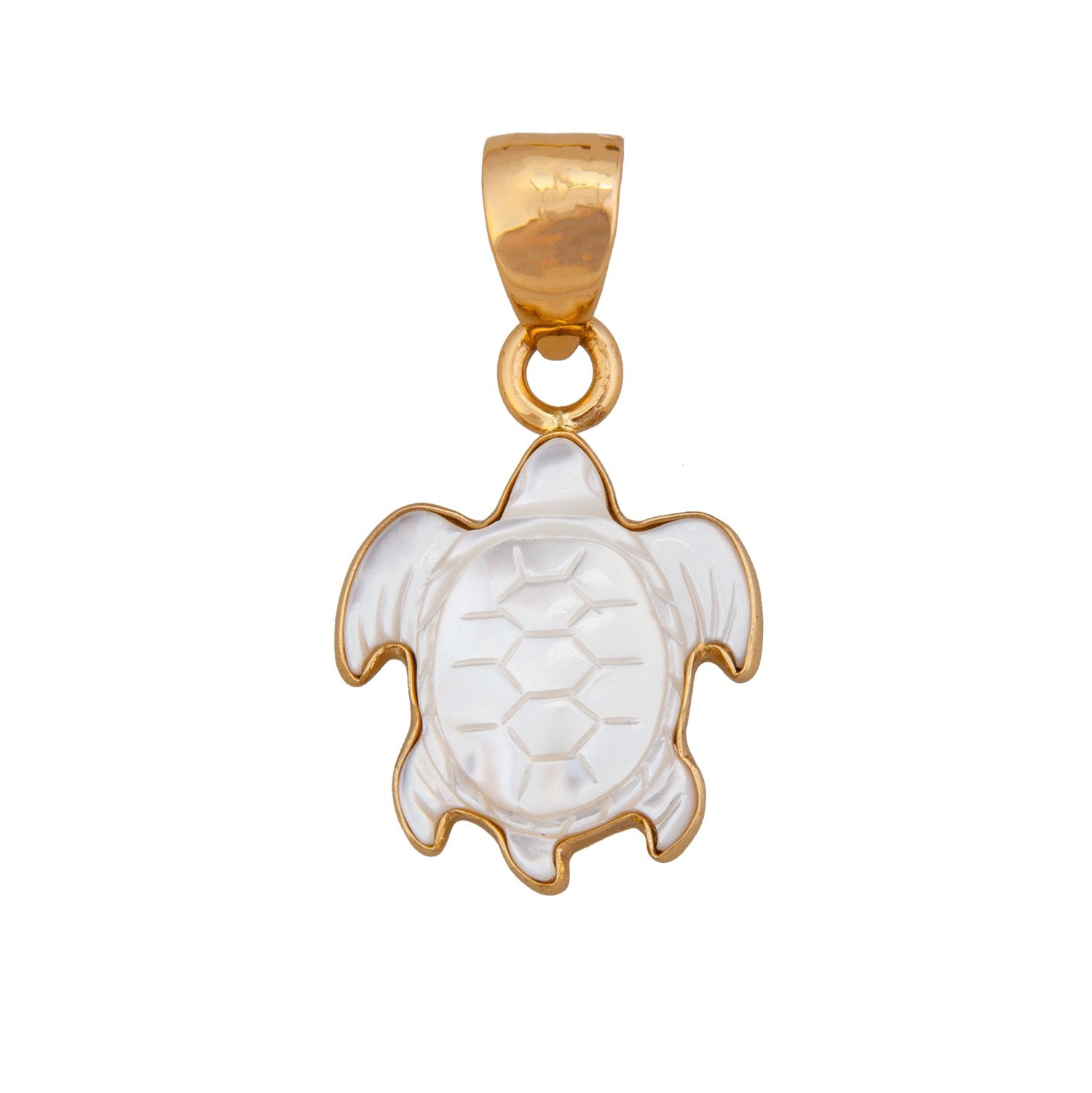 alchemia-mother-of-pearl-sea-turtle-pendant - 1 - Charles Albert Inc
