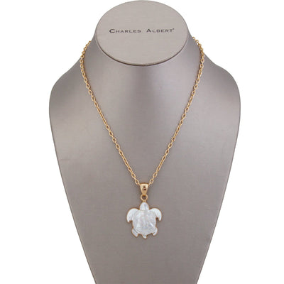 alchemia-mother-of-pearl-sea-turtle-pendant - 5 - Charles Albert Inc