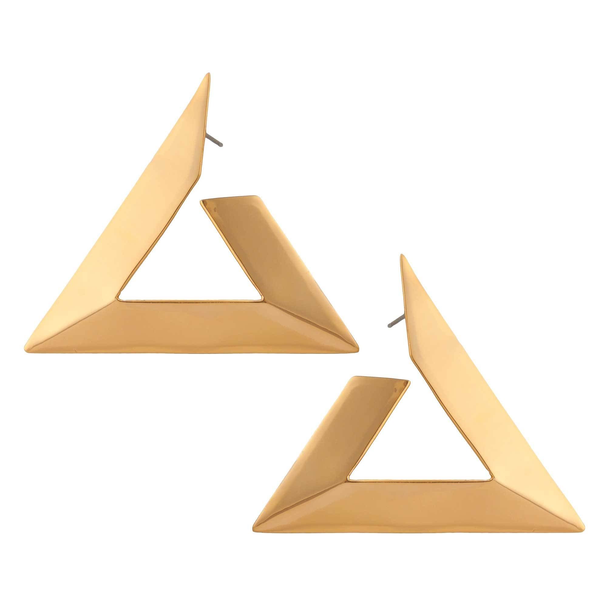 Alchemia Triangle Post Earring | Charles Albert Jewelry