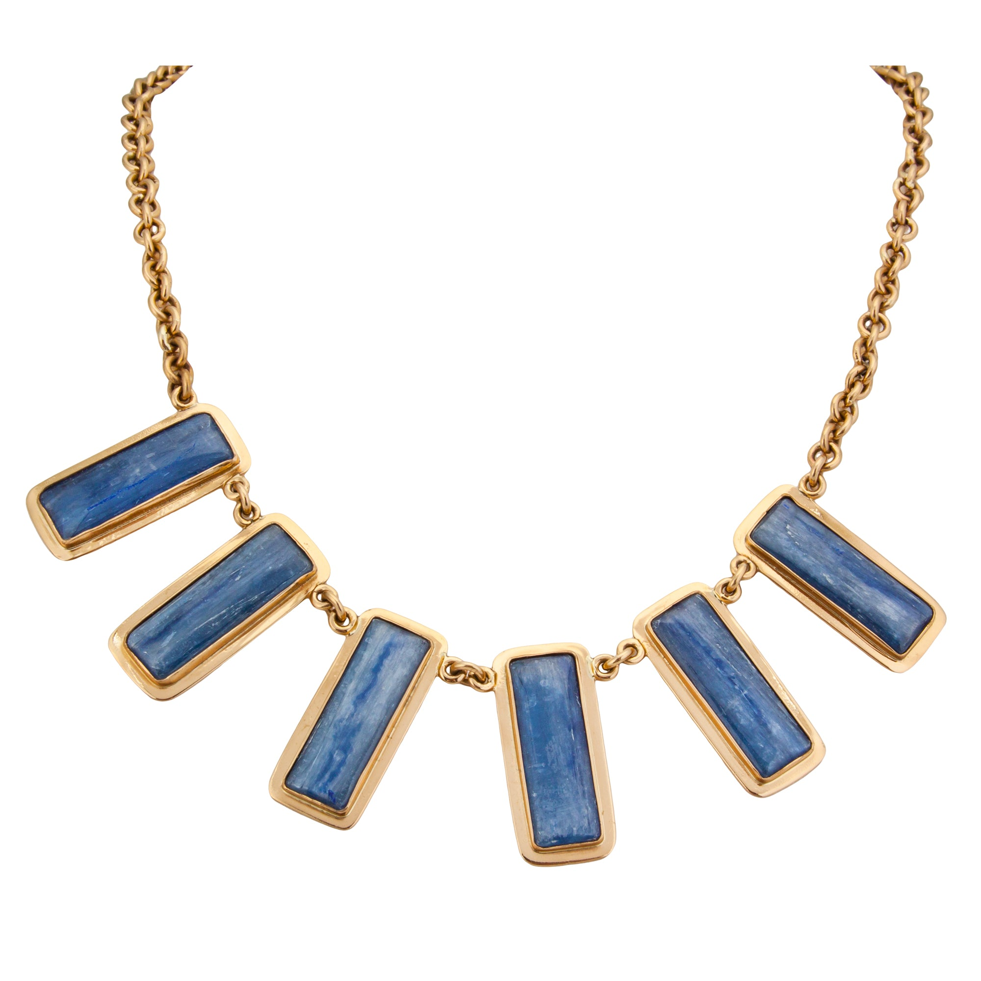 Alchemia Kyanite Necklace with Edge Detail | Charles Albert Jewelry
