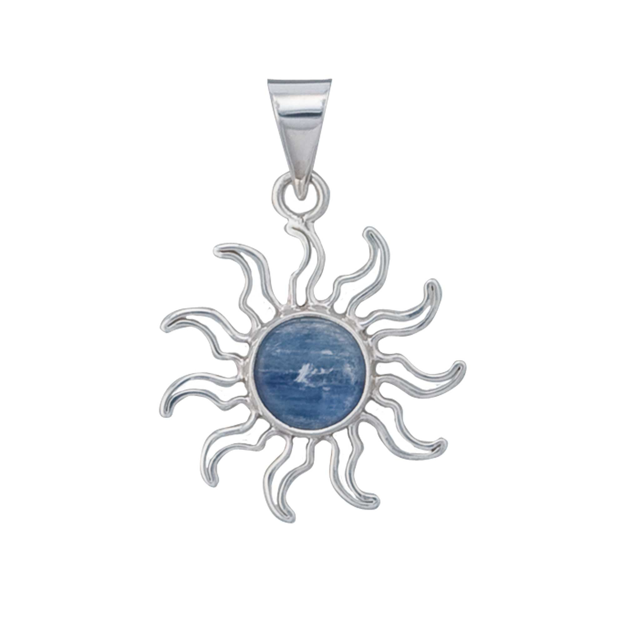 Sterling Silver Kyanite Pendant - Sun | Charles Albert Jewelry