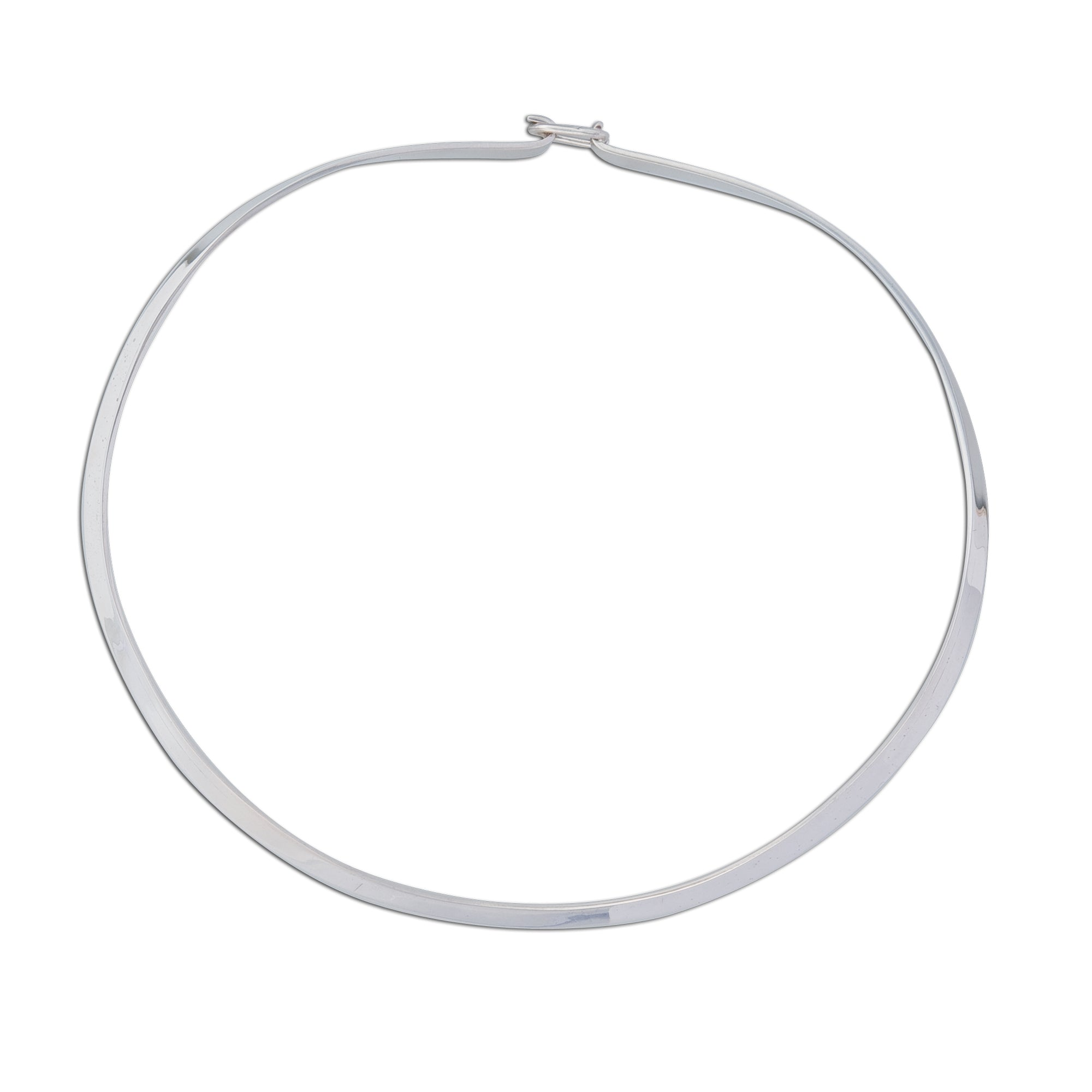 Sterling Silver Thicker Round Neckwire with Clasp | Charles Albert Jewelry