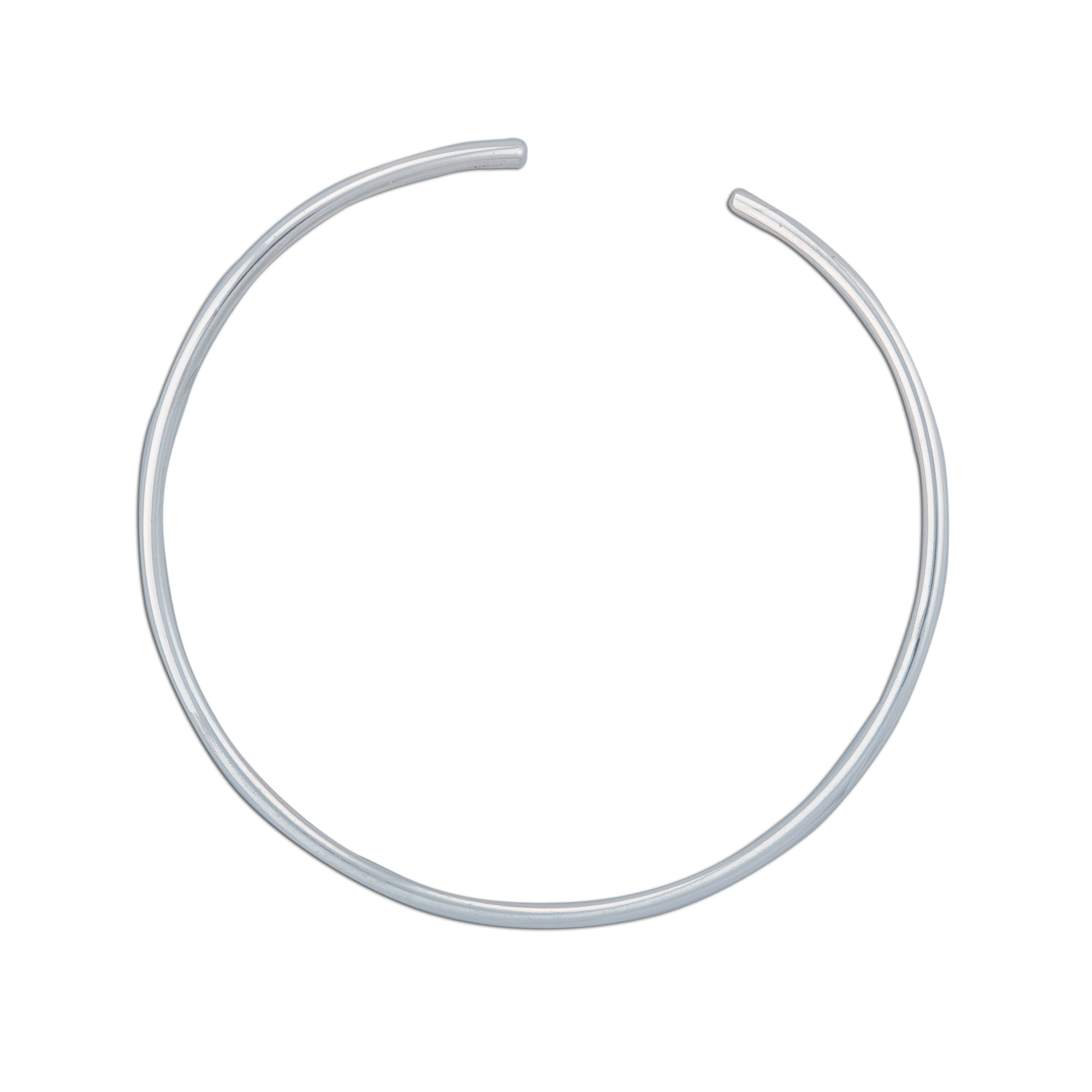 Sterling Silver Round Tube Neckwire | Charles Albert Jewelry