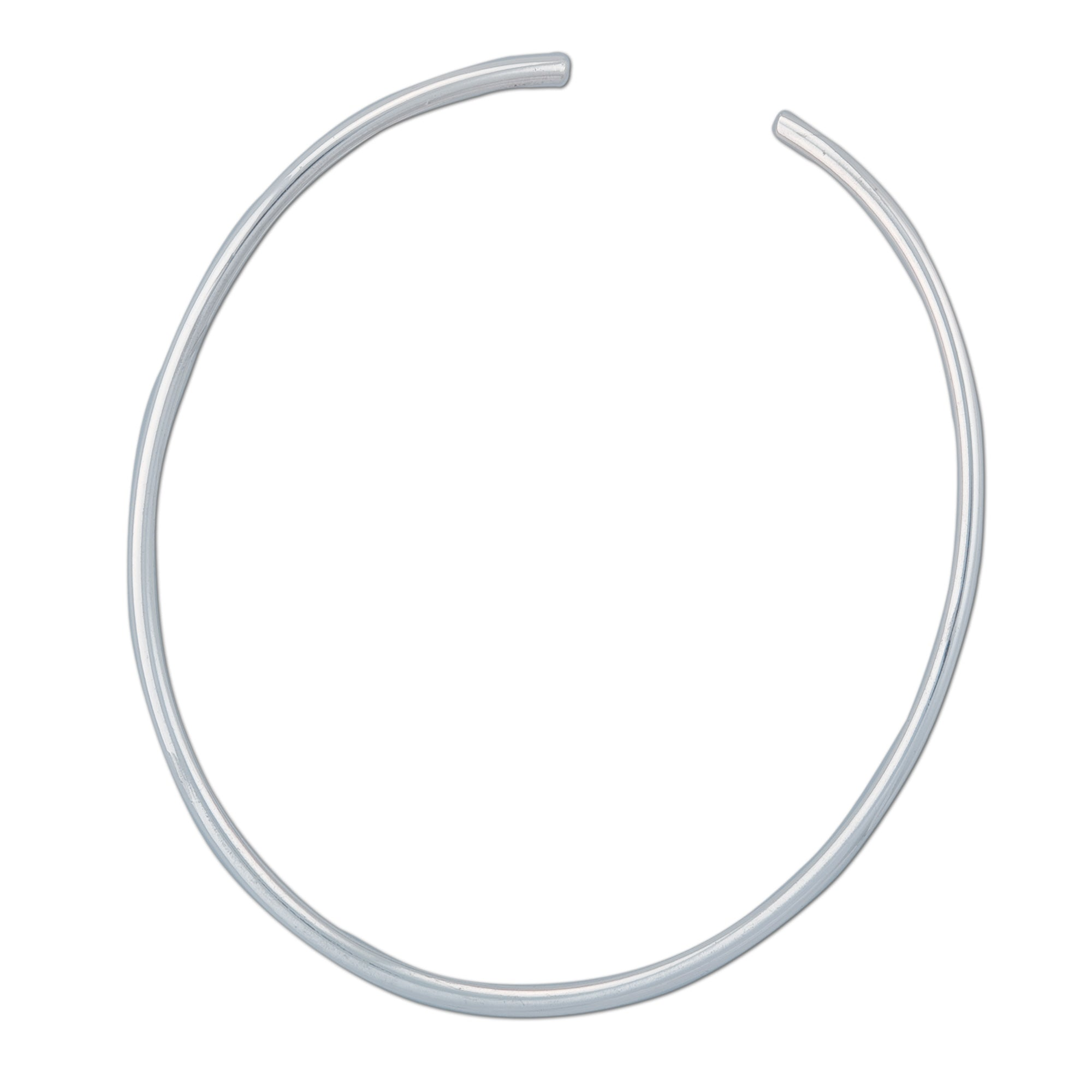 Sterling Silver Tube Oval Neckwire | Charles Albert Jewelry