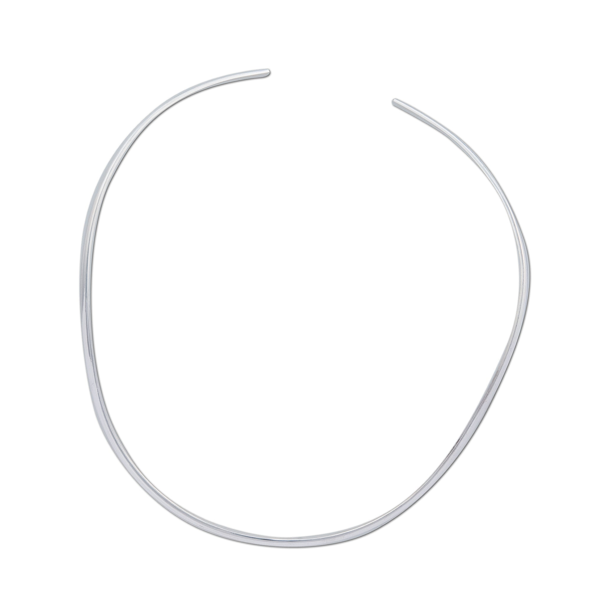 Sterling Silver Graduated Open Oval Neckwire | Charles Albert Jewelry