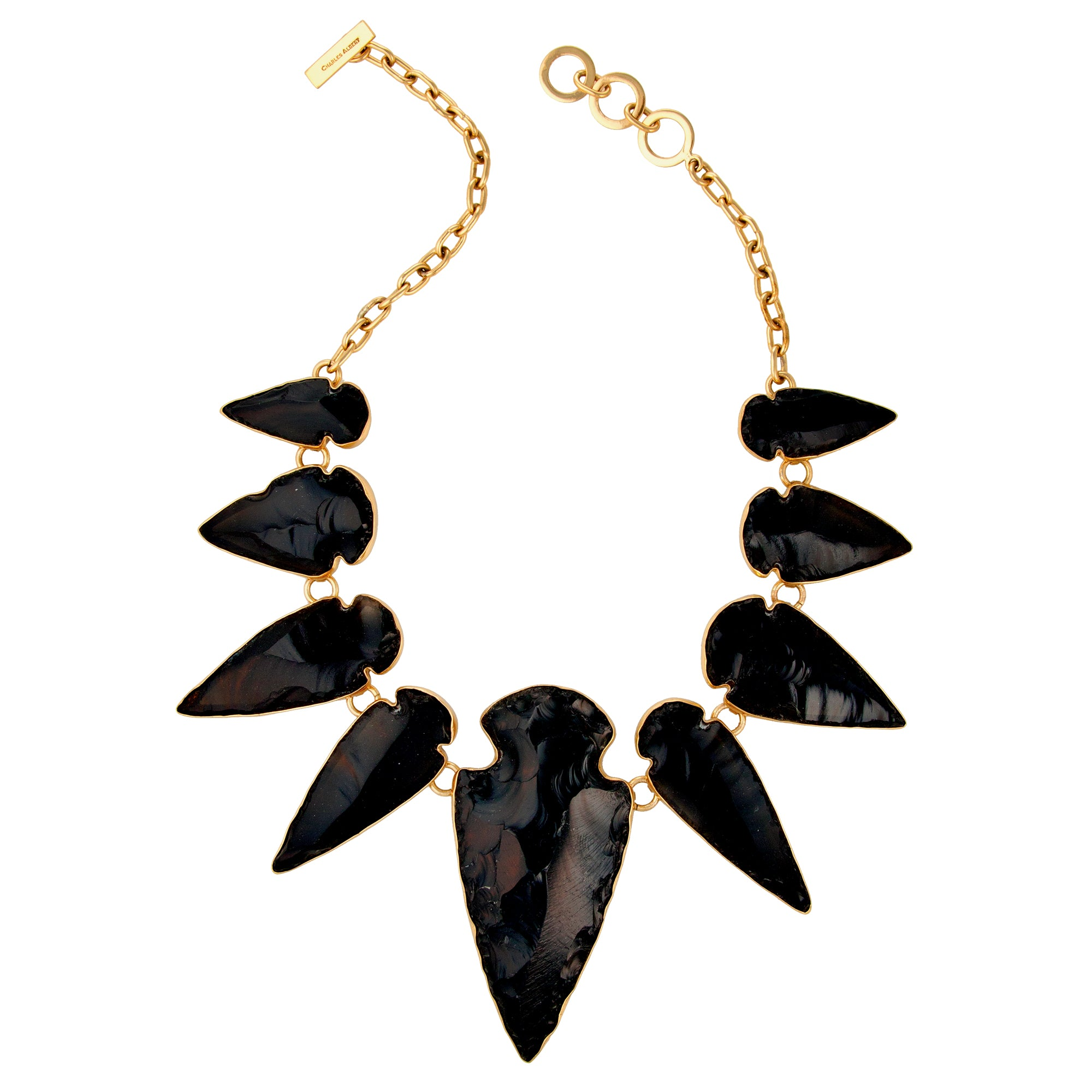 Alchemia Obsidian Arrowhead Necklace | Charles Albert Jewelry