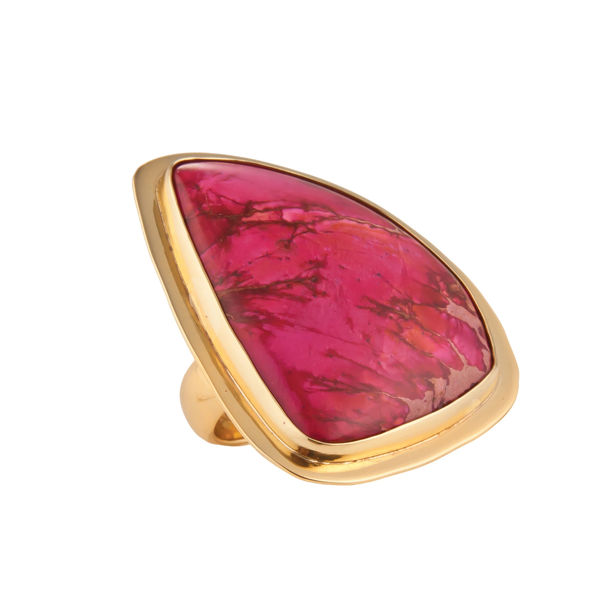 Alchemia Pink Jasper Ring with Lip