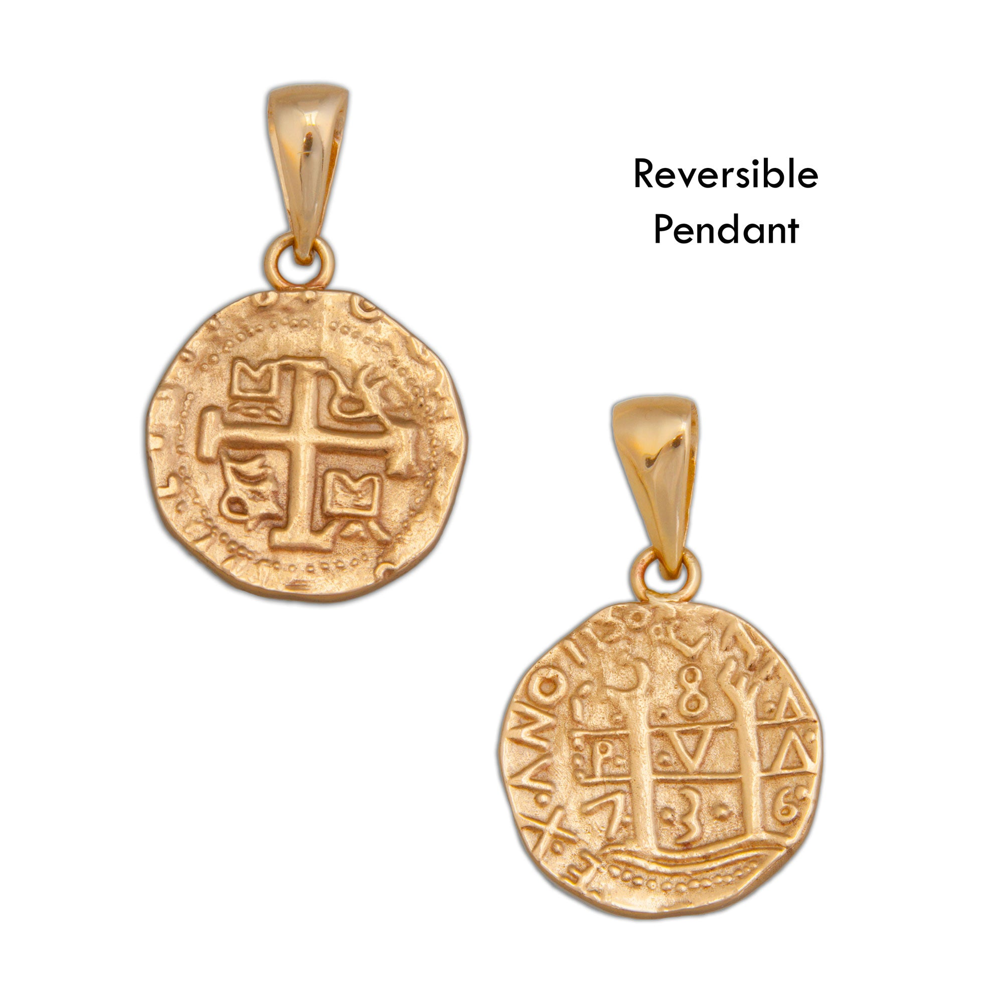 Alchemia Replica Treasure Coin Pendant | Charles Albert Jewelry
