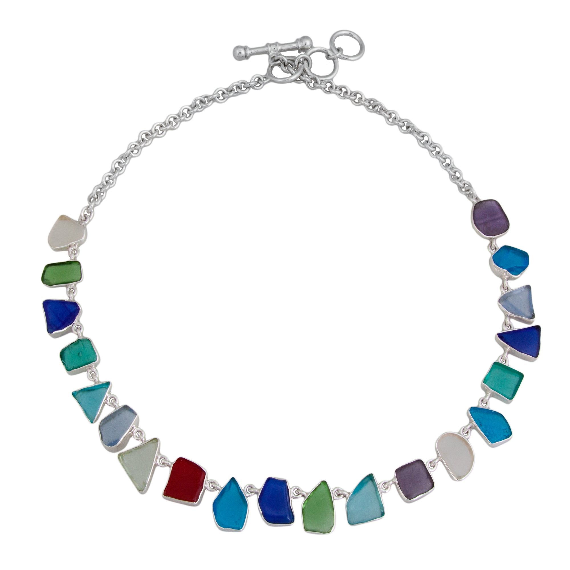 Sterling Silver Recycled Glass Necklace - Small