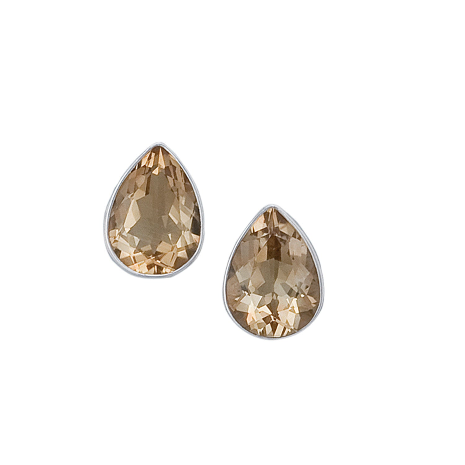 Sterling Silver Teardrop Citrine Clip Earring | Charles Albert Jewelry