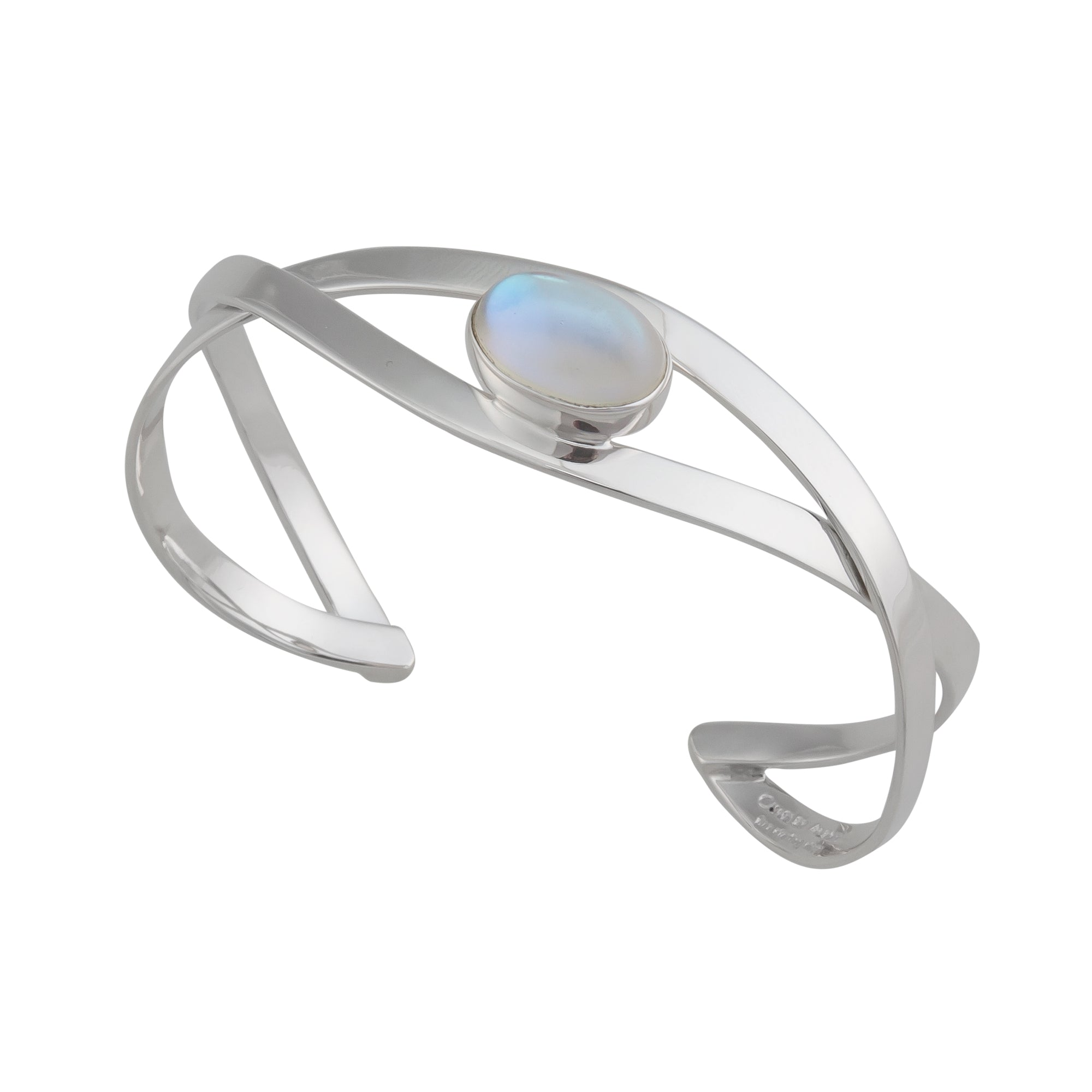 Sterling Silver Luminite Mini Infinity Cuff