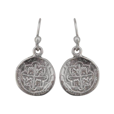 sterling-silver-spanish-coin-earrings - 2 - Charles Albert Inc