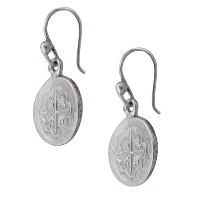 sterling-silver-spanish-coin-earrings - 3 - Charles Albert Inc