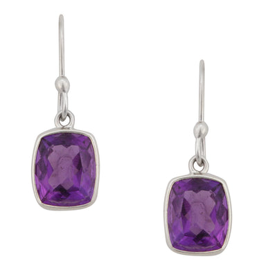 sterling-silver-amethyst-drop-earrings-1 - 1 - Charles Albert Inc